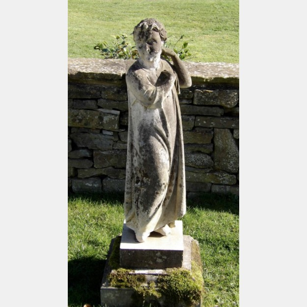Antique Stone Garden Figure