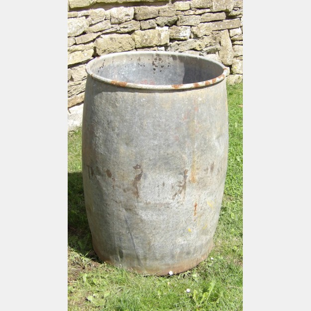 Old Galvanised Planter