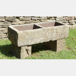 Old Stone Double Trough