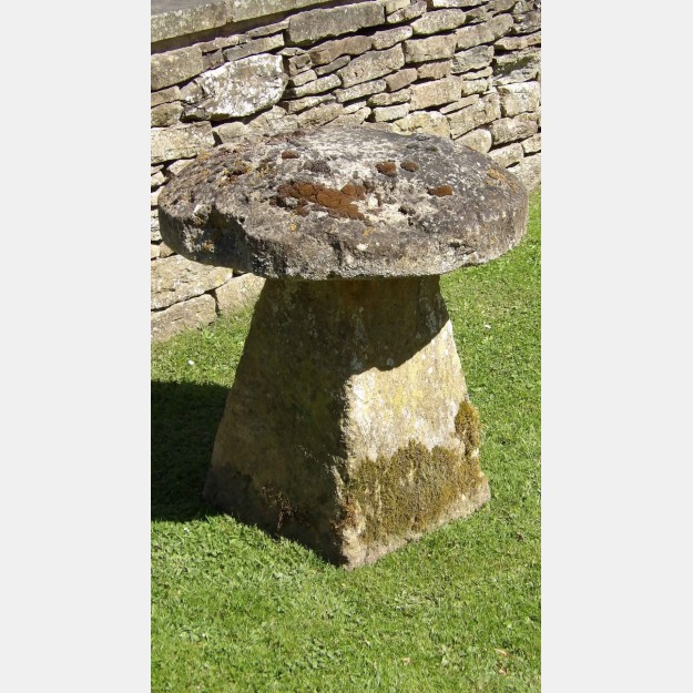 An Antique Limestone Staddle Stone