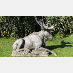 Large Bronze Statue of a Moose