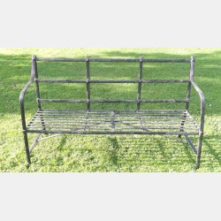Antique Wrought Iron Bench